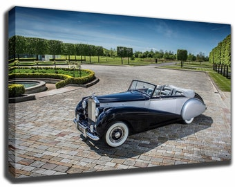 1952 ROLLS ROYCE silver dawn Canvas/Poster Wall Art Pin Up HD Gallery Wrap Room Decor Home Decor Wall Decor