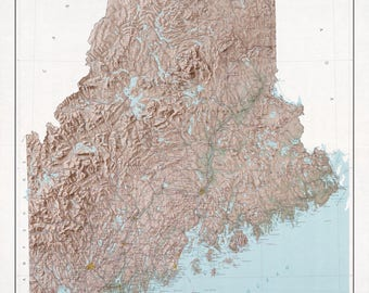Maine State Map - 1977