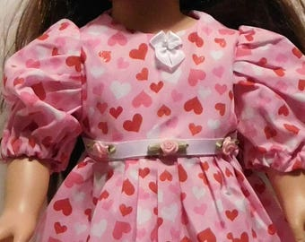 Valentine's Dress For American Girl, My Life and Other 18 inch Dolls