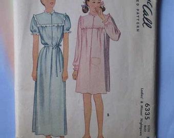 Vintage 40s Sweet Nightgown Uncut Pattern 34 36 Bust