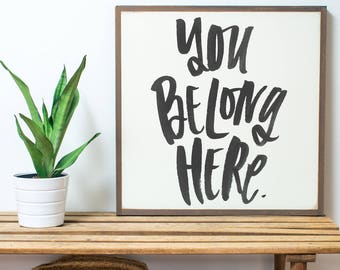 You Belong- Handlettered- 2x2