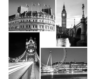 "B&W London Photo Set | ""Views of London"" 