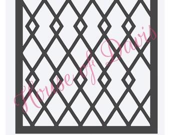 Diamond Lattice Stencil (Style 2) - 12x12