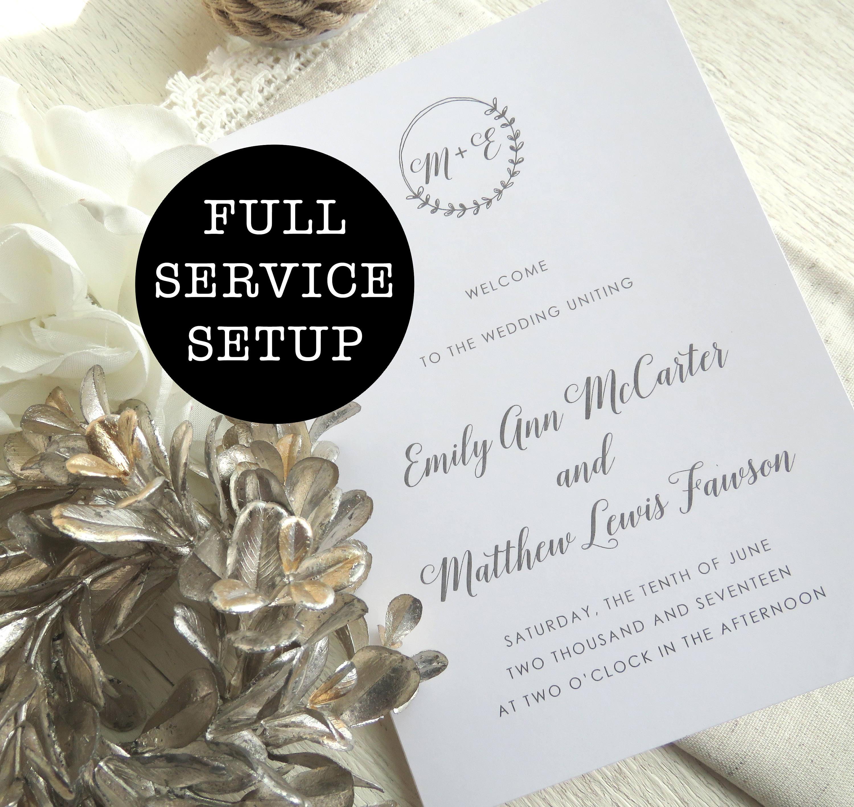 Gemütlich Hochzeitsprogramm Kostenlose Vorlage Fotos - Entry Level ...