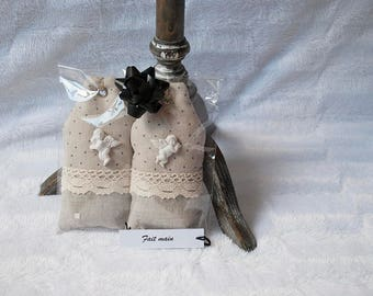 """Door cushions """"Angel"""" lavender and organic cotton"""