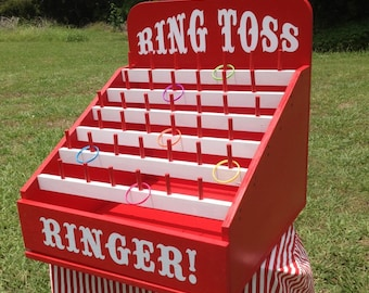 Ring Toss Carnival Game for Birthday, Church, VBS. School Party. or Trade Show. Carnival Games