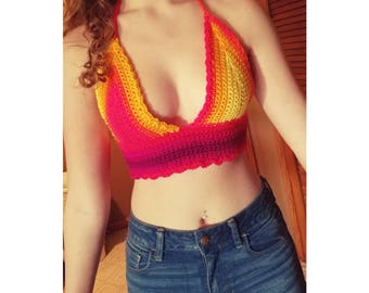 Rainbow crop top :)