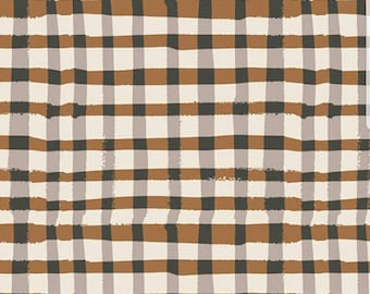 Wooly Umber fabric - Lambkin Collection - Bonnie Christine - Art Gallery Fabrics - plaid
