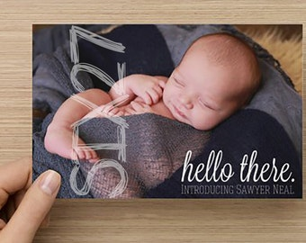 Birth Announcement Card - New Baby Announcement