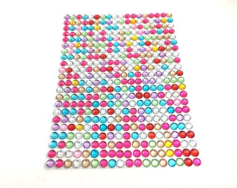 Multicolor/Rainbow Self Adhesive Stick-On Rhinestones/Gems/Jewels/Acrylic Gems/Bling | 4mm | 352 Count | Craft Supplies | ShimmerWorks