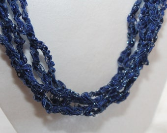 OES Star Point Adah  - Crocheted Necklace