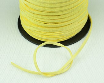 Faux Leather Cord, Faux Suede Cord 3mm, Banana Yellow, Pkg of 100yards, D903.3731