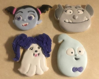 1 Dozen Vampirina Fan Art Hand Decorated Cookies
