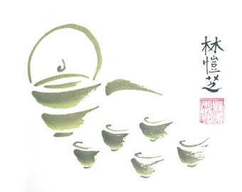 Vigorous Tea Greeting Card SET