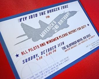 Top gun invitation Etsy