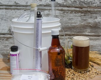Deluxe All Grain Beer Brew Kit - Do It Yourself 1 Gallon