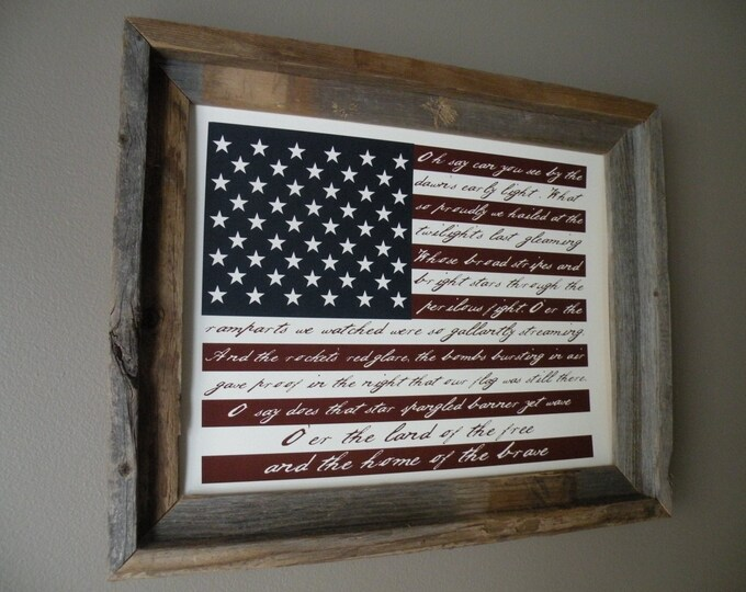 The Star Spangled Banner - Unframed