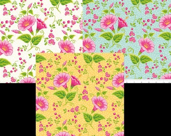 Primavera Fabrics by Riley Blake & Patty Young 3 Color Choices of Main Pattern C5740