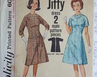 Vintage Dress Sewing Pattern Simplicity 5066 Size 12