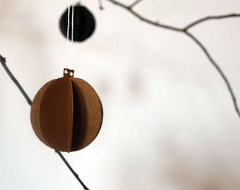 little globes *** ornament *** copper *** set of 3