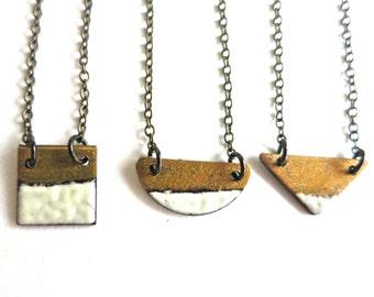 Tiny Enamel Reversible Necklace