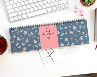 Flamingo Weekly Planner Notebook Ver.2 / Weekly Schedule /2018 Planner / Diary / Agenda / Journal / Bullet Journal / Personalised Planner
