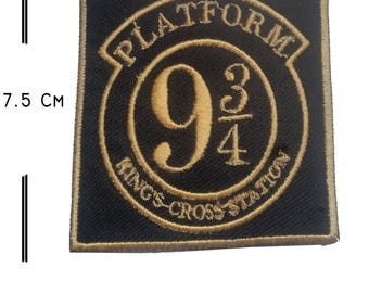 Harry Potter Platform 9 Embroidery iron on Patch badge