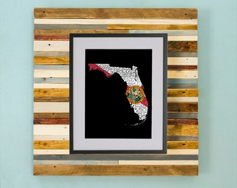 Florida County Map - Hand Drawing