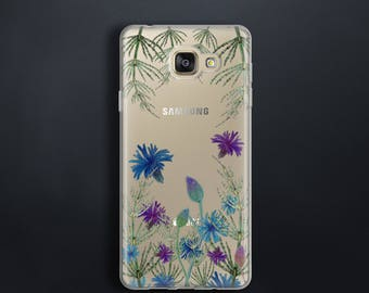 Case for Samsung Galaxy A3 2017 Case floral for A5 2017 Case clear for A7 2017 Case meadow flowers for A3 A5 A7 2016