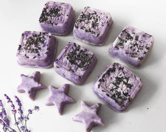 Lullabye Lavendar Bath Bombs - organic bath bombs - Aroma infused with fresh lavender and chamomile -gentle and relaxing