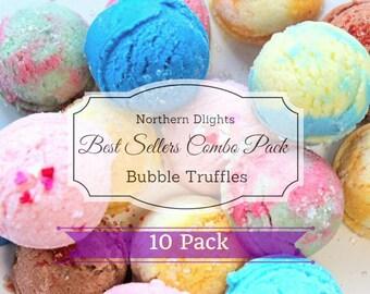 Bath Truffles, Best Seller Pack, 10 Pack, Bath Sampler Pack, Bubble Bath Scoop, Bath Melts, Gift for Her, Bubble Truffle, Bridesmaid Gift