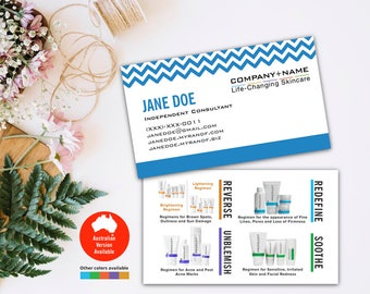 Rodan and Fields Business Cards, R and F Cards, Chevron, RF, Rodan Business Card, Marketing, Branding, Printable, Digital