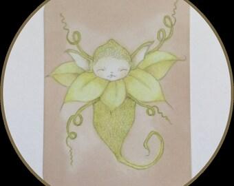 Original art Atc collectible lowbrow fantasy art