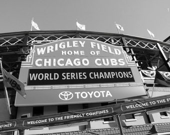 Chicago Cubs photo print, World Series Champions, Wrigley Field art photography, sports baseball gift, large wall decor, paper or canvas MF