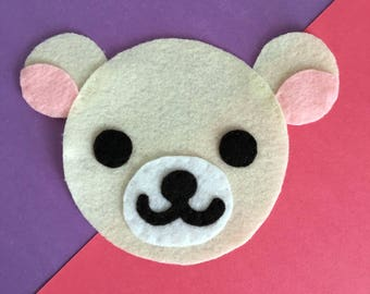 Rilakkuma Inspired - Iron On Applique/Patch - Made Out of 100% Recycled Felts