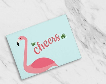 Cheers Festive Flamingo Congrats / Thank You Cards