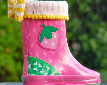 Mini Welly Warmers PDF Knitting Pattern Instant Download (ENGLISH ONLY)