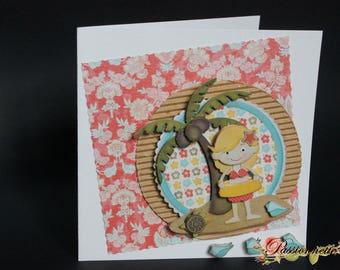 Postcard 3D, handmade, original, for a special event