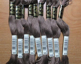 Lot of 4 Skeins DMC Floss # 839