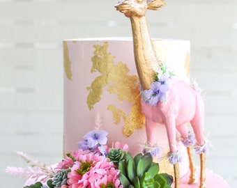 Floral Succulent Topper- Cake topper, prop cake, party decor