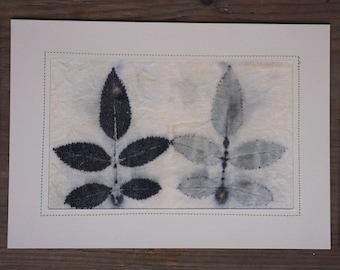 Eco Print Natural Print card
