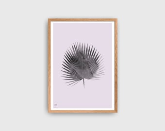 Tropical Poster | Palm Leaf Tree Print | Minimalist Poster | Tropic Wall Decor | Pastel Poster | Scandinavian Style Home Decor | Wall Art