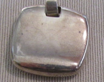 Interesting Sterling Silver Square Pendant