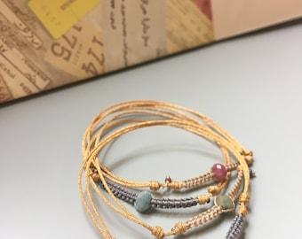 Tourmaline Macrame Friendship Bracelet