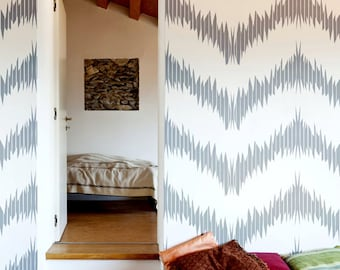 Spike and Chevron Modern Chevron Allover Wall Stencil