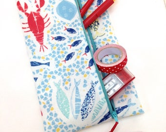 Lobster Pencil Case Travel Wallet