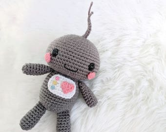 Pattern: Crochet Robot Pattern, Robot Amigurumi Pattern, Pattern Tutorial, Crocheted Robot, Amigurumi Bot, Cute Robot, PDF Crochet Pattern