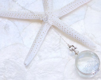 Limited Holiday Edition Sterling Silver or 14kt Gold Fill and Cubic Zirconia Sands of Time Shake Y Necklace
