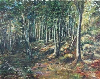 Vintage Oil Painting Landscape from Sweden