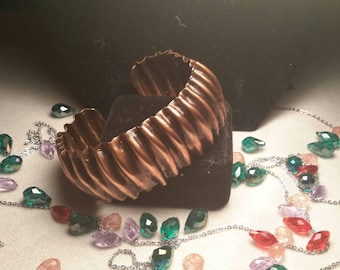 Coregated Copper bangle